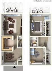 Townhouse 1000 sq. ft.